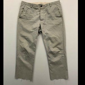 All Saints Men's Gray Charge Slim Cut Off Chinos